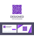 creative business card and logo template maze map vector image