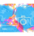 Creative photo camera Art vector image