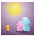 Cute Animals Collection Love is all around 7 vector image vector image
