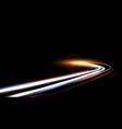 dynamic lights speed road in night time vector image vector image