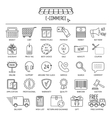 E-commerce icon set Flat design vector image vector image