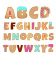 english alphabet from cookies vector image vector image