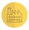 factory plant building icon vector image vector image