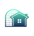fancy window house vector image