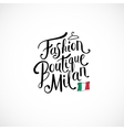 Fashion Boutique Milan Concept on White vector image vector image
