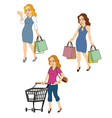 Female Shoppers vector image