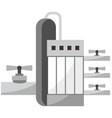 gas plant icon vector image vector image