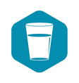 glass water icon simple style vector image vector image
