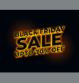 glowing lights golden black friday sale banner vector image