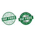 grunge stamp and silver label fat free vector image vector image