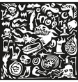 Halloween monsters - doodles vector image