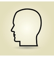 head silhouette isolated icon design vector image vector image