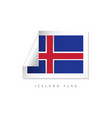 iceland label flags template design vector image