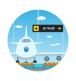 IconView on Airplane and Scoreboard Arrivals vector image vector image