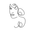 line drawing a beautiful woman 3 vector image
