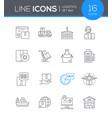 logistics - modern line design style icon set vector image