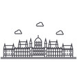 london parliament line icon sign vector image vector image
