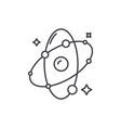 molecule line icon concept molecule linear vector image vector image