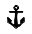 nautical isolated icon with anchor vector image vector image