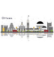 ottawa canada city skyline with gray buildings vector image vector image
