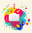Photo camera on abstract colorful spotted vector image
