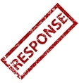 Response rubber stamp vector image vector image