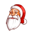 Santa claus emotions Part of christmas set Calm vector image