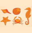 Sea Animal Orange vector image vector image
