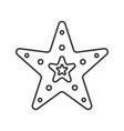 sea star linear icon vector image vector image