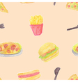 Seamless of fast food vector image vector image