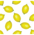 seamless pattern with whole lemons vector image vector image