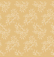 seamless vintage summer lineart white floral vector image vector image