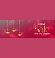 shiny diwali festival sale banner design vector image