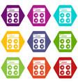 speaker box icons set 9 vector image vector image