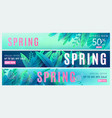 spring sale background springtime discount poster vector image vector image