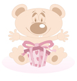 Teddy Bear with a present vector image