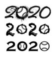 tennis 2020 new year numbers vector image vector image