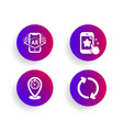 timer augmented reality and star rating icons set vector image vector image
