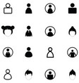 user icon set vector image