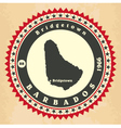 Vintage label-sticker cards of Barbados vector image vector image