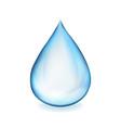 water drop symbol vector image vector image
