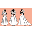 Wedding dress woman vector | Price: 1 Credit (USD $1)