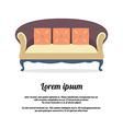 Vintage Sofa vector image