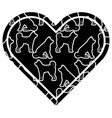 heart love dog zodiac calendar pattern vector image