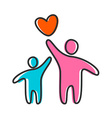 love heart parent icon vector image
