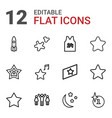12 star icons vector image vector image