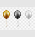 3d realistic metallic golden black white vector image vector image