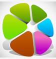 abstract colorful icon color wheel color palette vector image