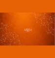 abstract polygonal dark orange background with vector image vector image