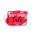 abstract red watercolor black friday sale banner vector image